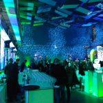Iluminación en sala de fiesta